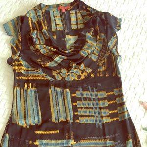 Silk Anthropologie blouse size xs